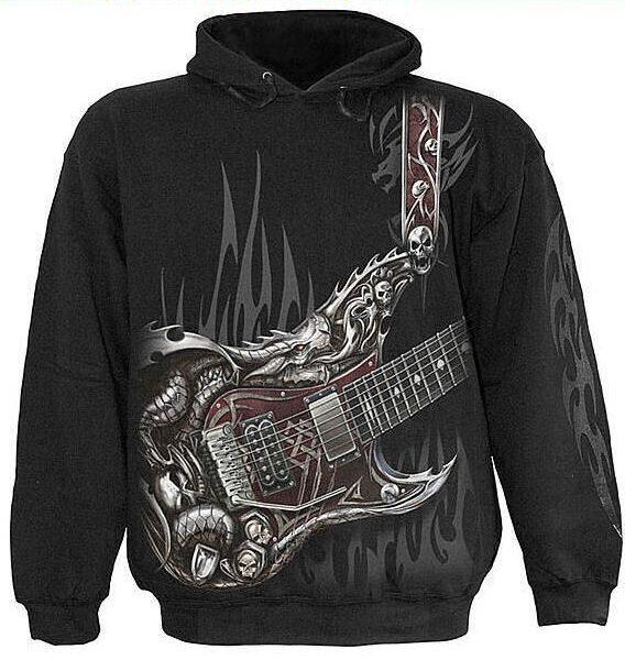 Air guitar kapucnis pulóver-0