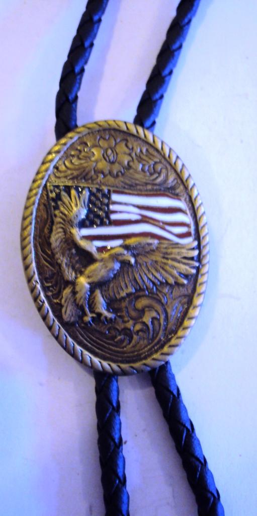 Amerikai nyakkendő sas motívummal-0