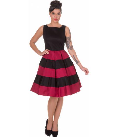 Anna Stripe Retro rockabilly ruha-0