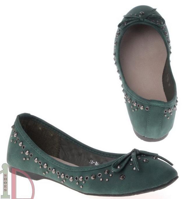 Zöld Ballerina cipő-0