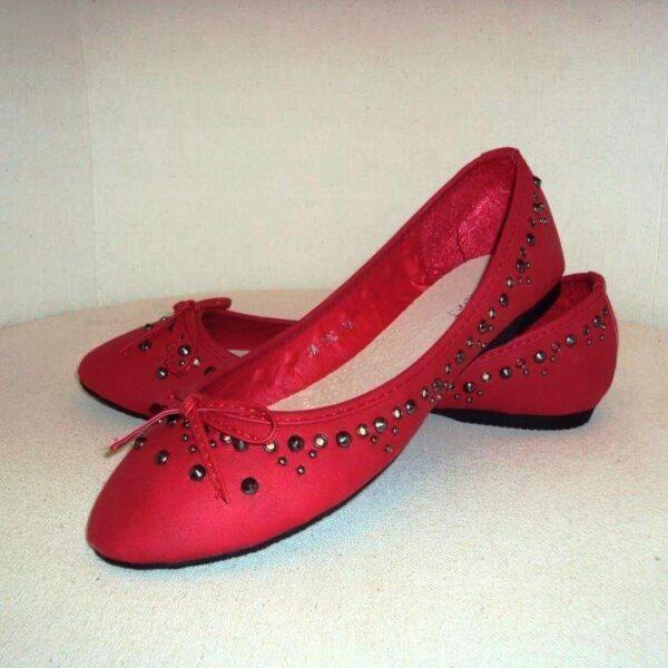 Piros ballerina cipő-0