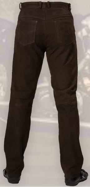 Barna színű nubuk bőrnadrág-0