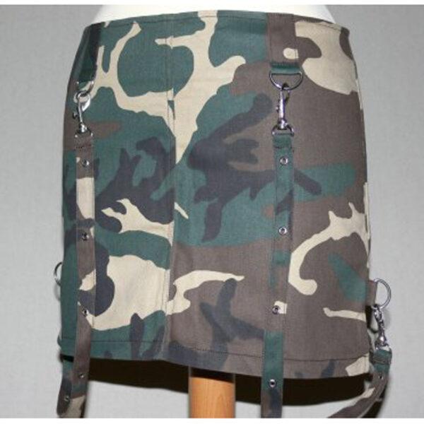 Camouflage Bondage miniszoknya-0