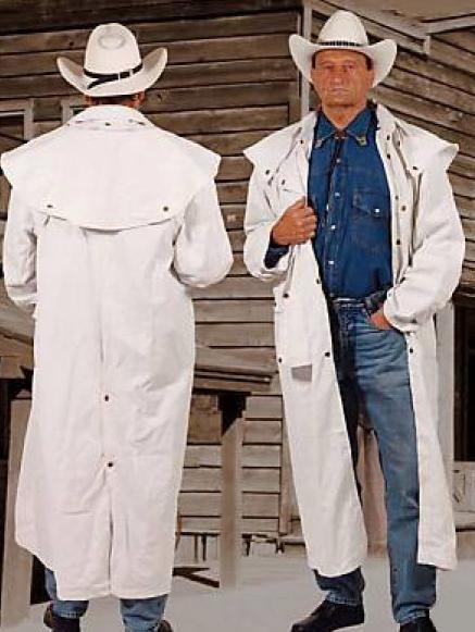 Cowboy kabát fehér színben-0