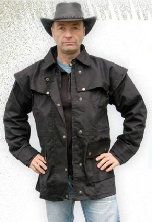 Cowboy kabát fekete és barna-0