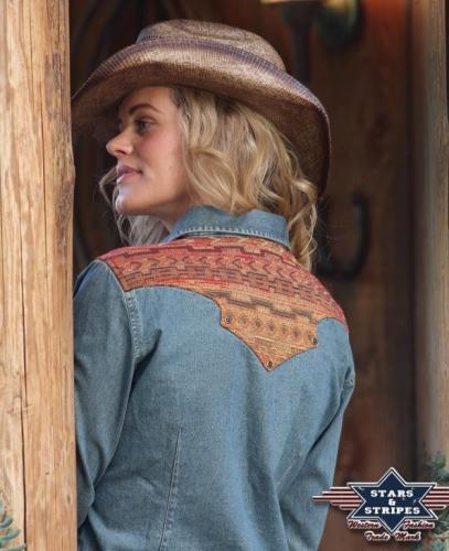 Elvita western blúz