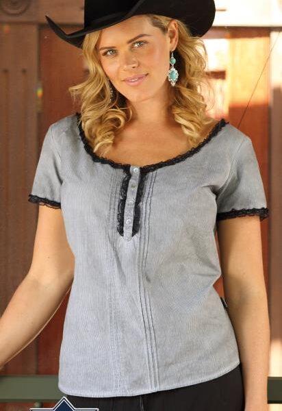 Gina western blúz-0
