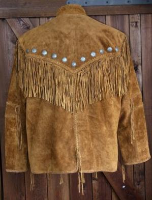 Hombre hasítottbőr western dzseki, barna