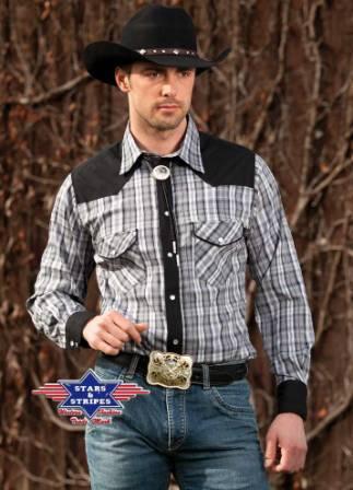Brian kockás western ing-0