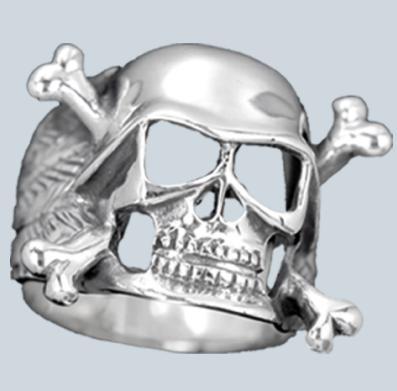 Koponyás ezüst gyűrű-0