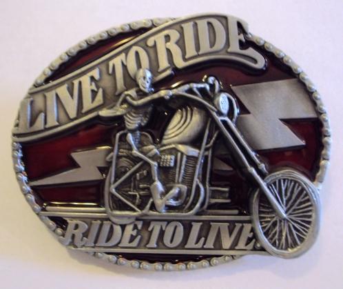 Live To Ride, Ride To Live motoros övcsat-0