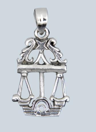 Mérleg ezüst medál-0