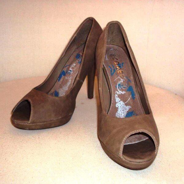 Barna magassarkú cipő-0