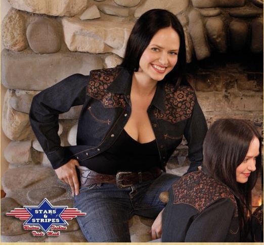 Megan western blúz-0