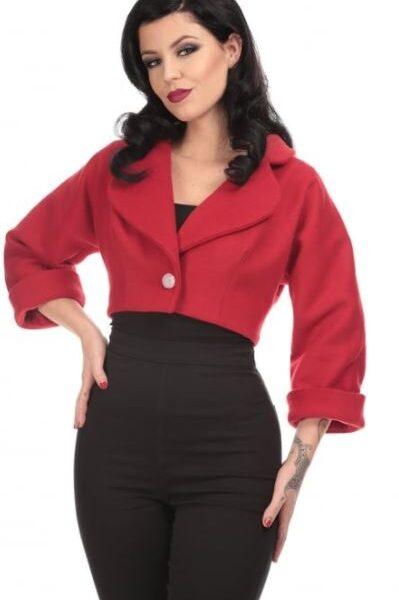 Monroe kiskabát piros és fekete színben-0