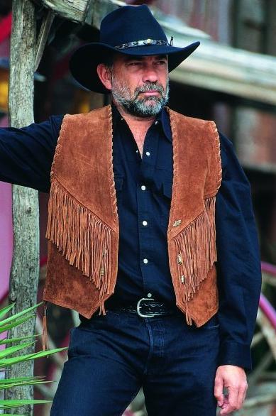 Western bőrmellény-0