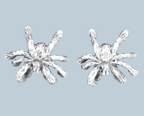 Pók ezüst fülbevaló-0