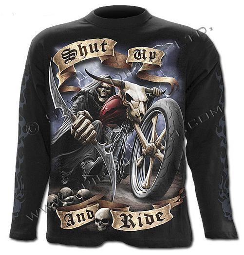 Shut Up And Ride hosszúújjú póló-0