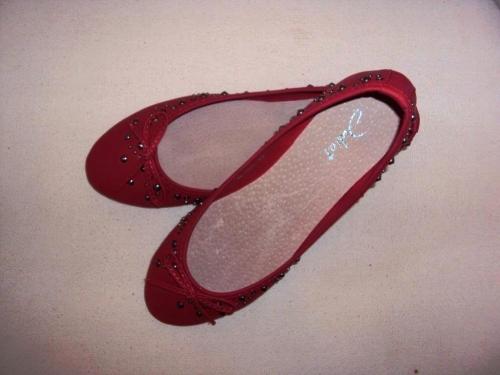 Piros ballerina cipő