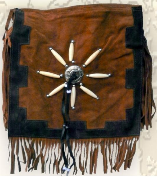 Velúr western táska-0