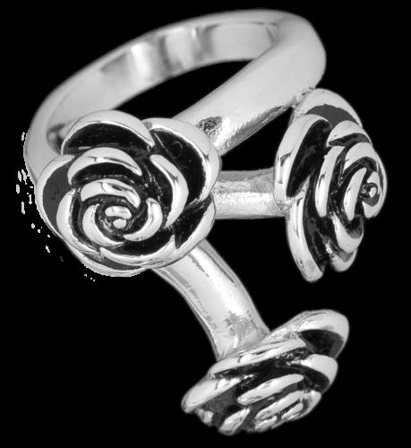 Virág mintázatú gyűrű-0