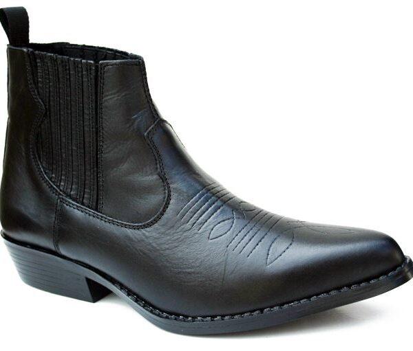 Western bőr bokacsizma-0
