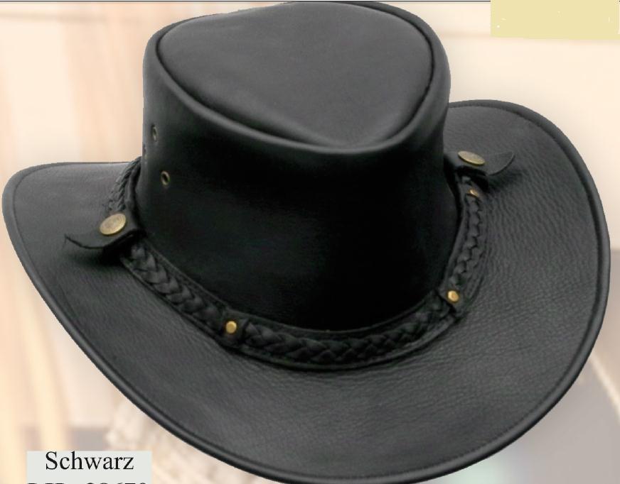 Western bőrkalap fekete, barna-0