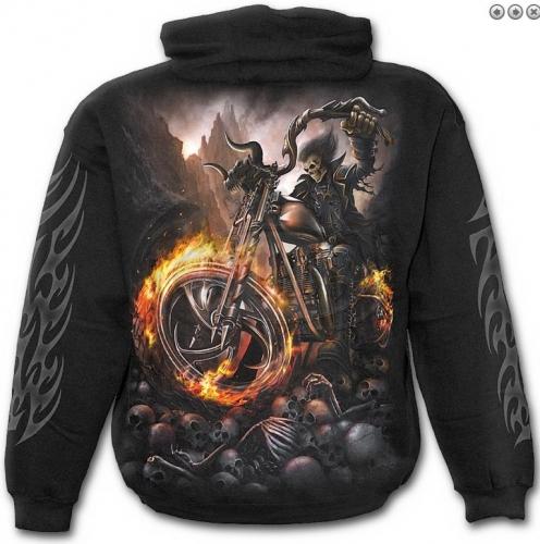 Wheels of Fire kapucnis pulóver