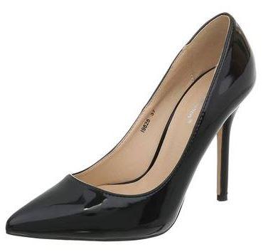 Fekete magassarkú cipő-0