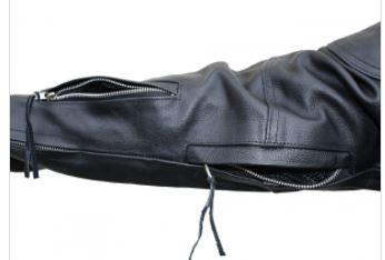 Cruiser motoros bőrdzseki