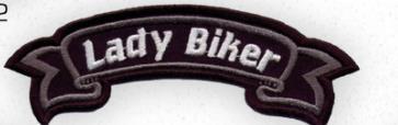 Lady Biker felvarró-0