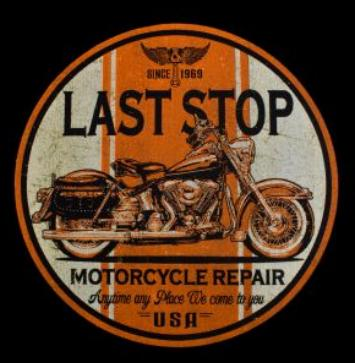 Last Stop motoros póló-0