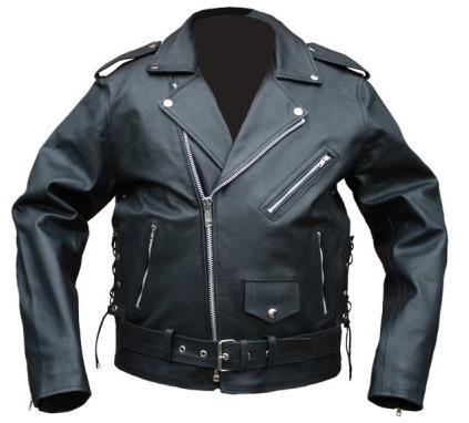 Brando rockabilly motoros bőrdzseki, fűzős-0