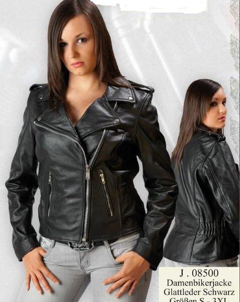 Női motoros bőrdzseki-0