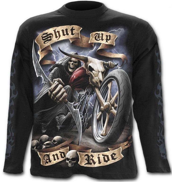 Shut Up And Ride hosszúújjú póló, L, XXL-0