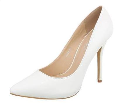 Fehér magassarkú cipő-0