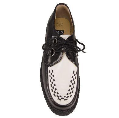 T.U.K. Creeper Black White Low Sole-4695