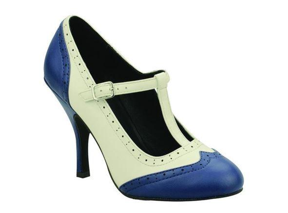 T.U.K. T-pántos Magassarkú Cipő Kék-0