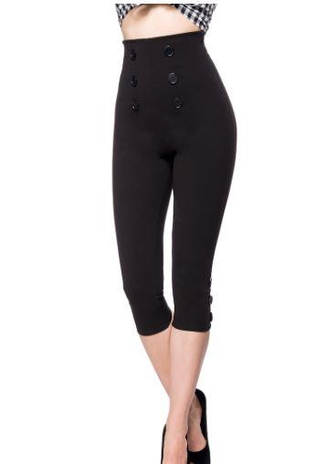 Fekete capri nadrág