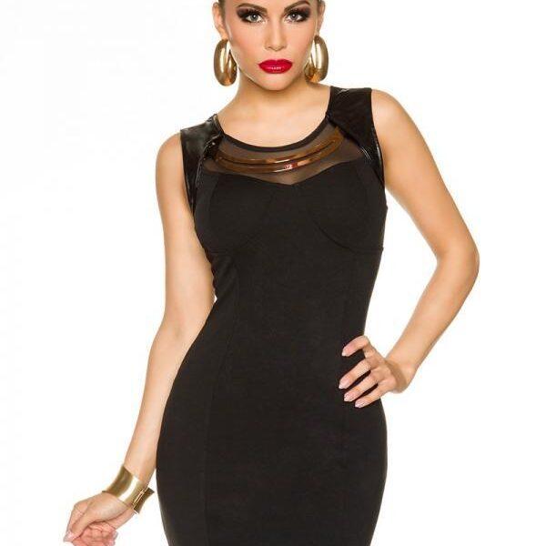 Fekete női miniruha-0