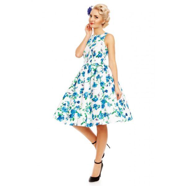 Annie Retro Swingruha kék virágokkal-0
