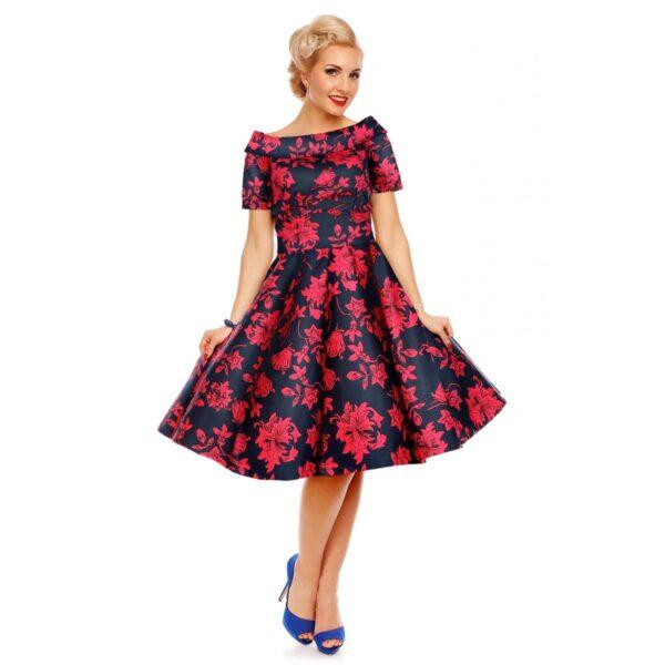 Darlene virágos swing ruha-0