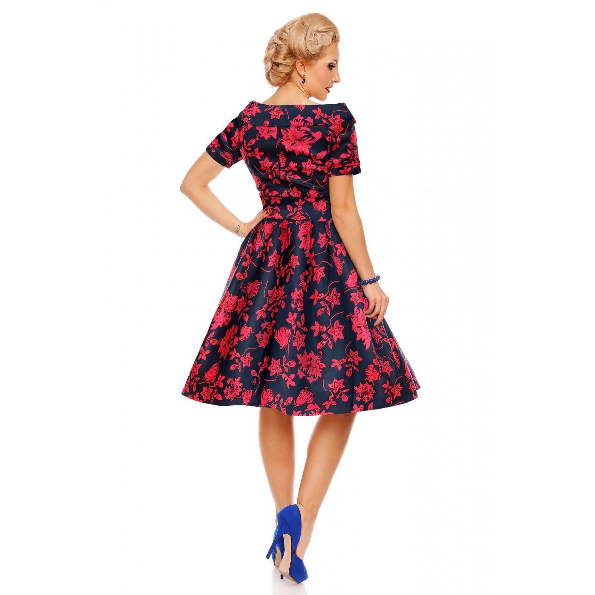 Darlene virágos swing ruha