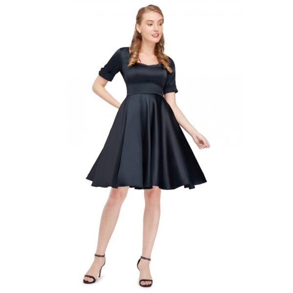 Barbara szatén vintage ruha-0