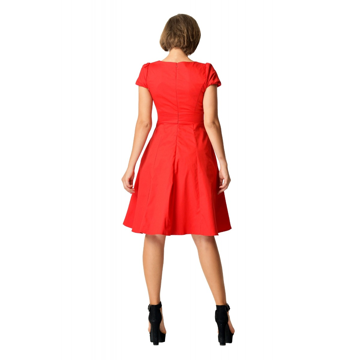 Claudia Flirty piros vintage ruha