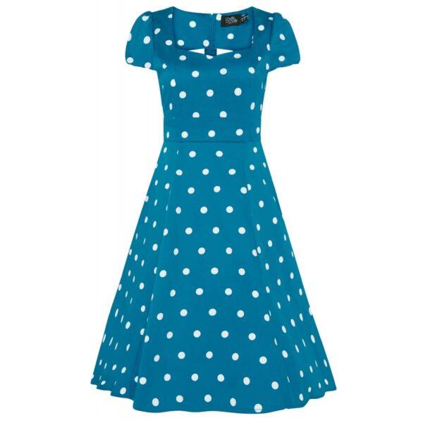 Claudia Flirty kék pöttyös ruha-0