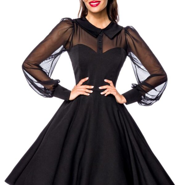 Fekete vintage prémium ruha -0