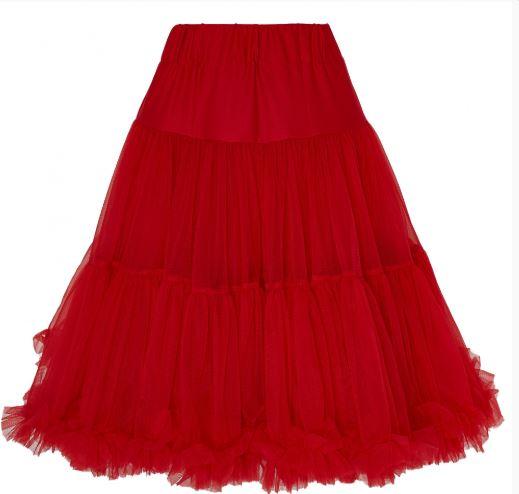 Piros fodros alsószoknya, 53 cm