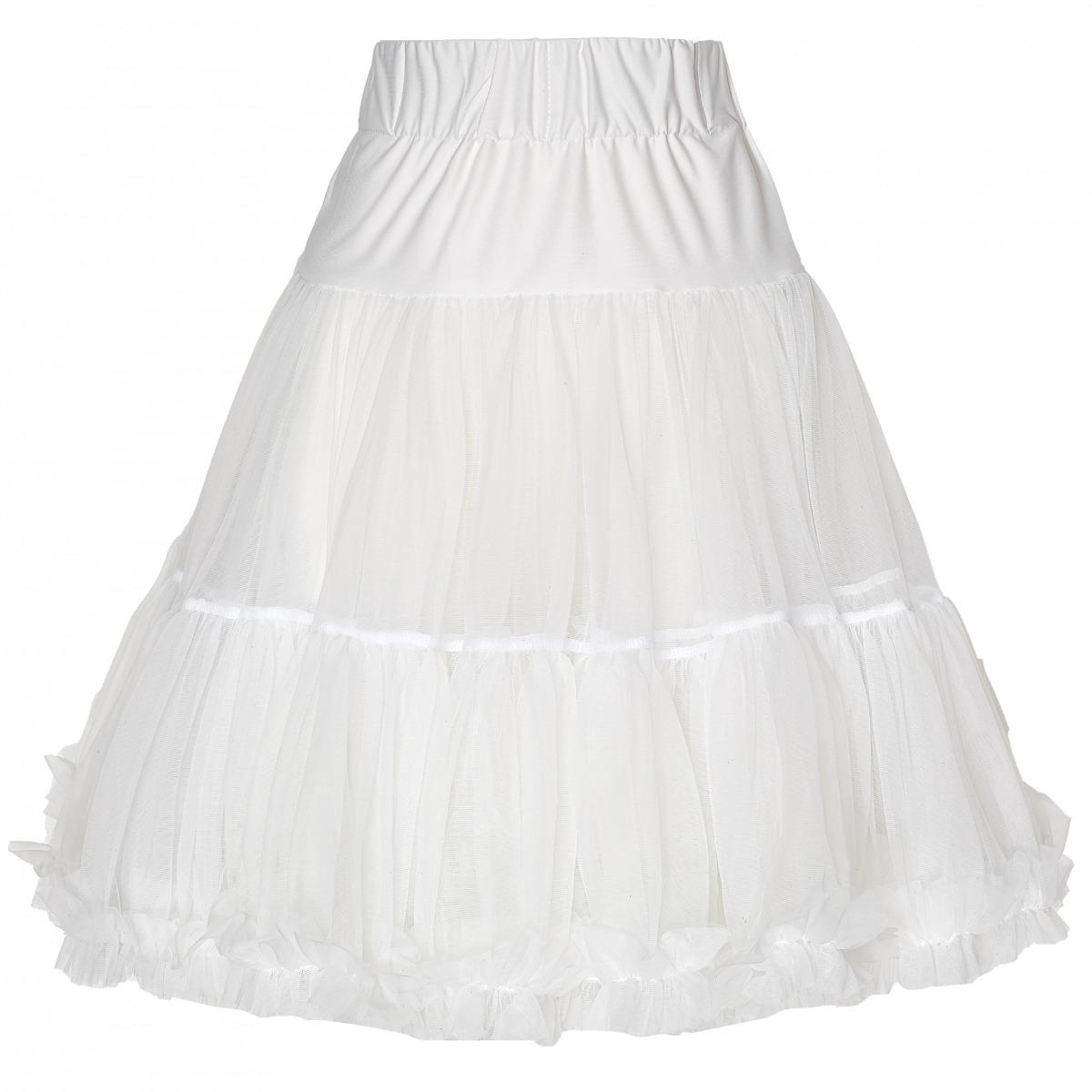 Fodros fehér alsószoknya, 53 cm-0