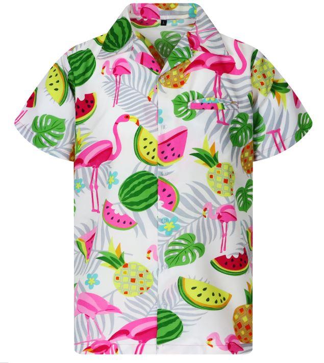Flamingós Hawaii ing, fehér-0